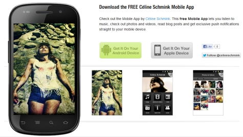 Appli Celine Schmink sur android